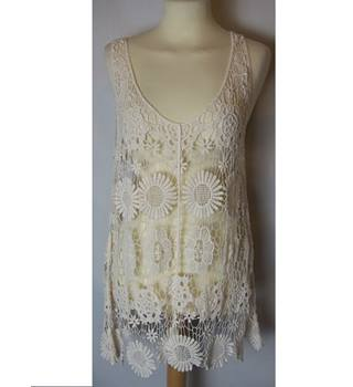 Women's Cream Breeze Ever Top- Size S Breeze Ever - Size: S - Cream / ivory