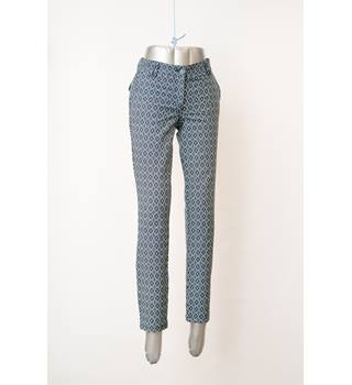 BNWT Mistral size 8 Blue Printed Trousers