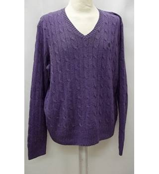 Ralph Lauren - Size: M - Purple - Jumper- 100% Tussah silk
