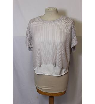 Zara double layer beige top size medium Zara - Size: M - Beige - T-Shirt