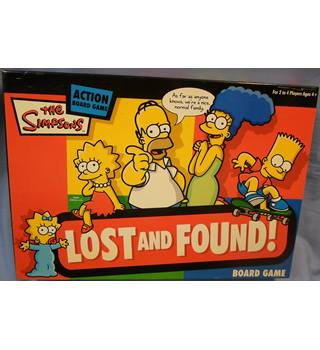 The Simpsons, 'Lost and Found' board game for 2-4 players. Complete