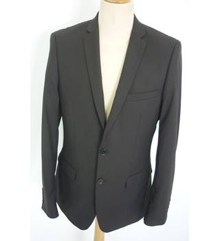 "French Connection Size: M, 40"" chest, tailored fit Black Smart/Stylish Polyester & Viscose Single Breasted Jacket."