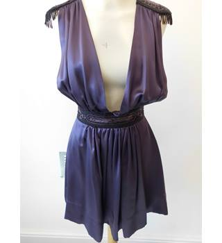 Kate Moss for Topshop Silk Purple Party Dress- Size: 8