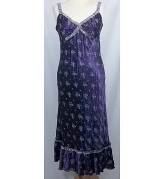 Whistles-Size 12-Purple Floral Sleeveless Dress.