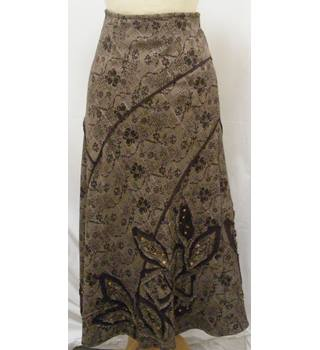 Per Una - Size: 12 - Brown - Patterned skirt