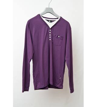 Peter Werth - Size: M - Purple - Long sleeved T-shirt