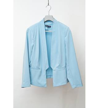 M&S Collection Petite jacket with padded shoulders - pale Blue - Size 16P