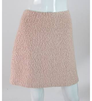BNWT: M&S Marks & Spencer - Size: 12 - Pink - Wool Mix Mini Skirt