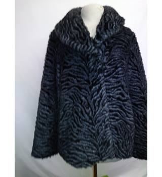 Kaliko, size 12 grey faux fur coat