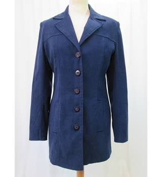 New Look - Size: 12 - Navy  Blue - Long Line Casual jacket / coat