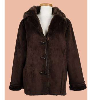 Maine New England, size 22 brown faux suede jacket