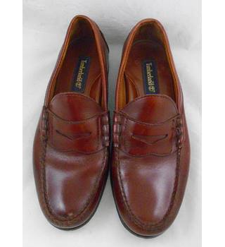 Timberland brown leather loafers Size 7.5