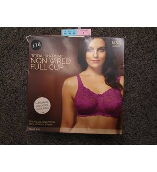 Marks and Spencer - M & S Lingerie - Total Support - Non Wired Full Cup - Bra - Size 36 F - Light Magenta - BNWTS