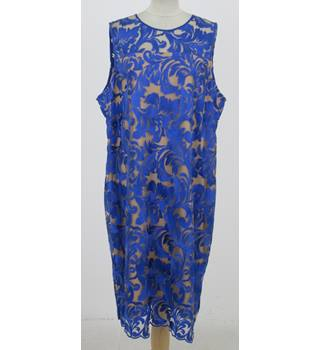 NWOT: M&S Size 18 Regular: Blue lace dress