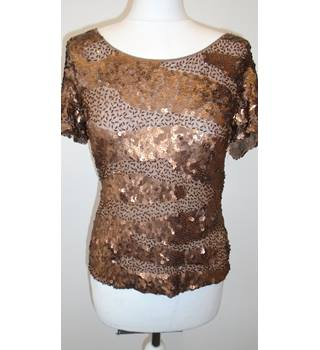 Frank Usher size: 12 bronze metallic top with sequins