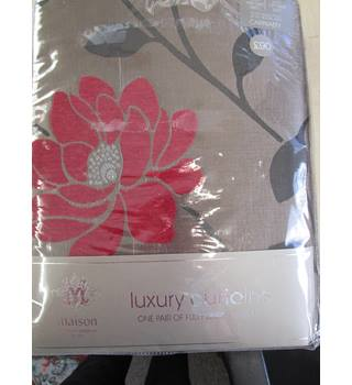 Pair fully lined Maison luxury curtains. New Maison - Multi-coloured