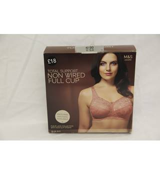 Brand new in box M&S Coral pink full cup bra - Size: 42DD