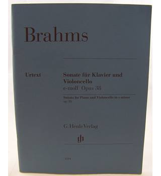 Brahms - Sonata for Piano and Cello in E minor Opus 38.
