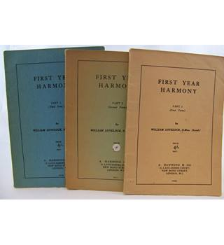 First Year Harmony by William Lovelock. Vols I, II, III.