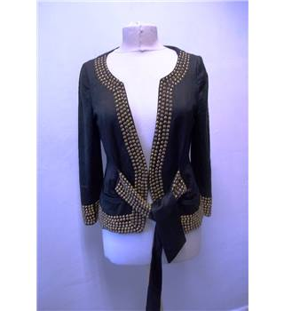 Blank London Size M Black Cotton and Silk Jacket with Metal Beads