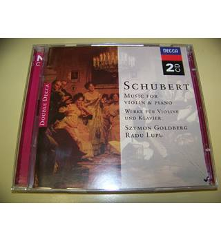 DOUBLE CD Schubert - Radu Lupu, Szymon Goldberg ‎– Music For Violin & Piano