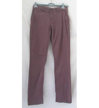 Fat Face - size: 10, dusky pink, straight leg trousers