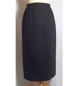 Precis - Size: 12 - Black - Calf Length Wool Skirt