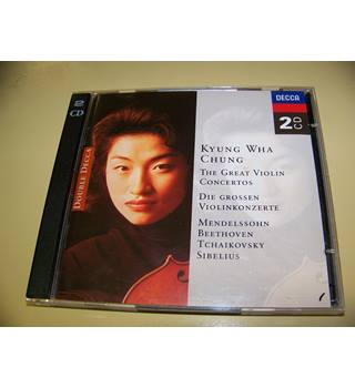 DOUBLE CD Kyung Wha Chung Plays Beethoven . Mendelssohn . Tchaikovsky . Sibelius