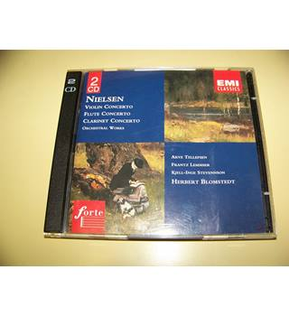 DOUBLE CD Nielsen – Violin Concerto / Flute Concerto / Clarinet Concerto / Orchestral Works