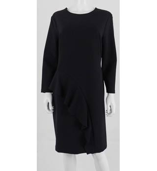 M&S Collection Size:16 Black Ruffle Dress