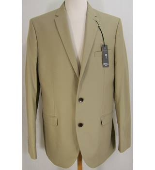 M&S Marks & Spencer - Size: 42L - Beige - Single breasted blazer
