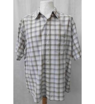 M&S Marks & Spencer - Size: XL - Multi-coloured - Short sleeved check shirt