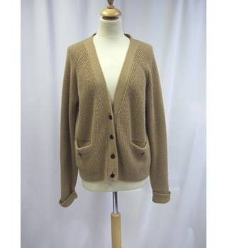 Jaeger - Size: L - Brown - Camel Hair - Cardigan