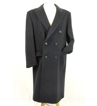 Black Wool and Cashmere mix Overcoat in a 38 Regular size