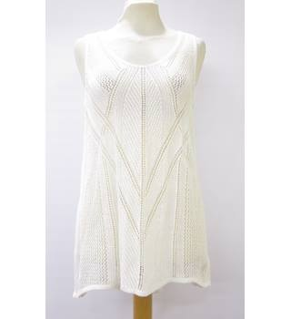BNWT Ladies White crotchet Top from Next Next - Size: 12 - Cream / ivory - Short sleeved shirt