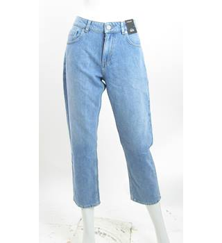 BNWOT - M&S Marks & Spencer - Size: 12 - Blue Denim - Cropped Straight Trousers