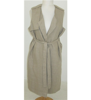 M&S  Size: 10 Natural coloured pure linen dress