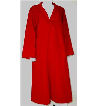 Jaeger Size 14 Red Wool Coat