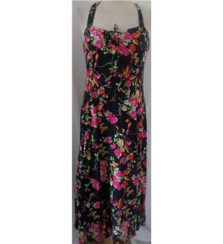 My Garment Co Size 12 Black/Pink/Floral Full length dress