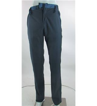 Ted Baker - Size 30R - Blue with side waist buckle trousers
