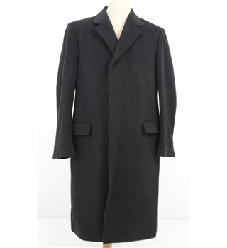 Dehavilland Size M Charcoal Wool Cashmere Overcoat