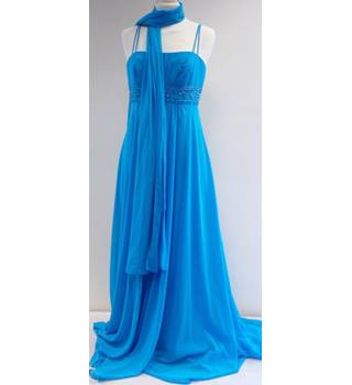 David`s Bridal - Size: S - Blue - Full length