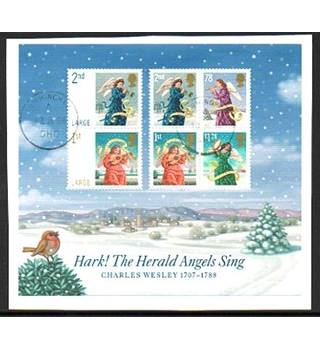 Hark! The Herald Angels Sing: Charles Wesley 1707-1788 Royal Mail Miniature Sheets [POSTMARKED]
