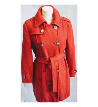 Lampert - Size 12 - Red double-breasted overcoat