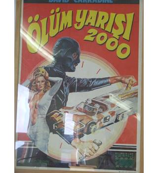 Olum Yarisi 2000 ( Death Race 2000 ) Film Poster Framed Retro Kitsch