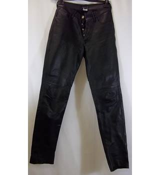 Agnes B Paris - Size: 38 - Black - Leather Trousers
