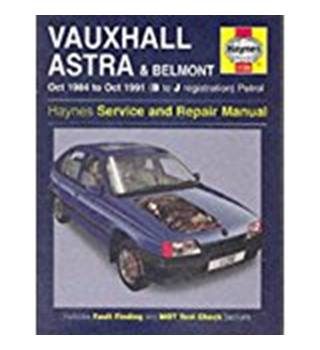 Vauxhall Astra and Belmont Service and Repair Manual (1984-1991)  A Haynes Service and Repair Manual