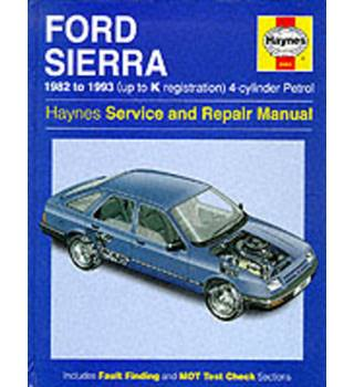 Ford Sierra 4-Cylinder Service and Repair Manual  A Haynes Manual