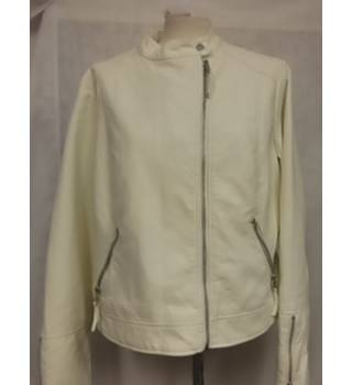 M&S Marks and Spencer Collection - Machine Washable M&S Marks & Spencer - Size: 16 - White - Jacket