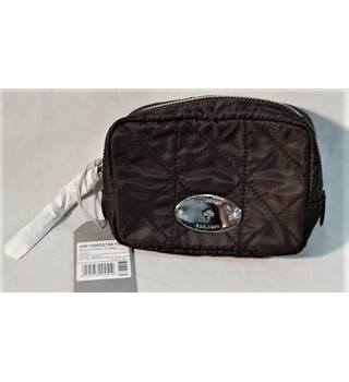 MULBERRY BLACK ROSIE MAKE UP BAG BNWT CHROME & LEATHER DETAIL